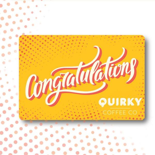 coffee congratulations gift card