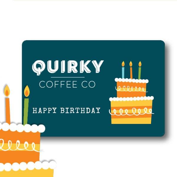 coffee gift car -happy birthday