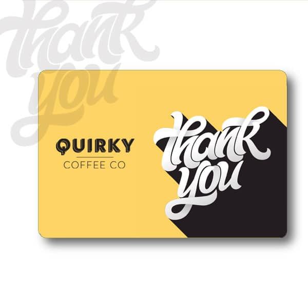 coffee gift card thank you