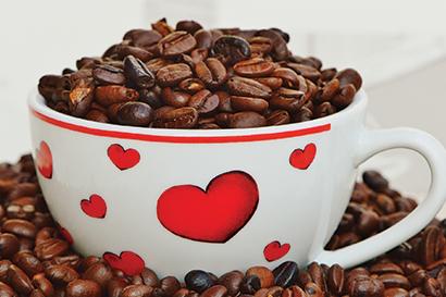 heart cup coffee
